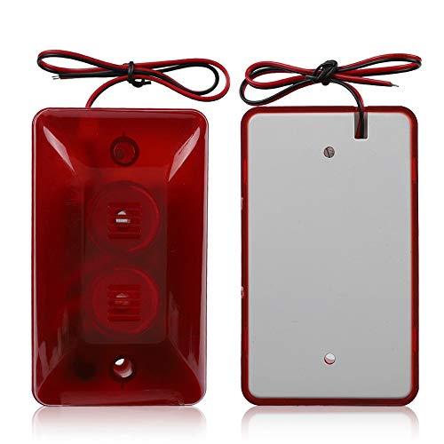 Best Review Of Yesbaby 12V Wired Strobe Siren Sound Alarm Strobe Flashing Red Light Sound Siren