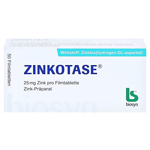 ZINKOTASE Filmtabletten, 50 St. Tabletten
