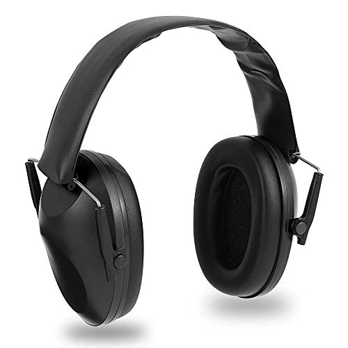 N/S Protección auditiva electrónica para tiro auditivo, protección auditiva de seguridad, profesional, reducción de ruido, ideal para disparar y cazar., Negro , M