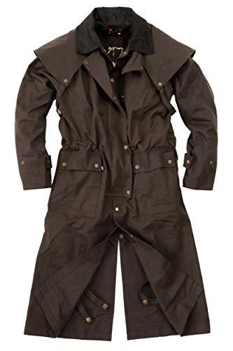 Kakadu Traders Australia Workhorse Drover Coat Oilskin Cappotto in cera con fodera interna extra marrone XXL