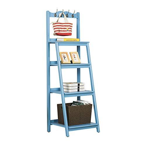 FEI Rekken 4 Tier Effen Houten Ladder Plank Hoek Bloempot Houder Slaapkamer Boekenplank Vloer Staand Multilayer Woonkamer Opslag Lockers YANG