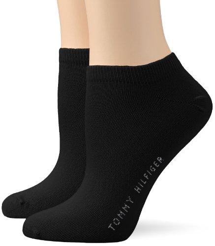 Tommy Hilfiger Frauen Sneaker Trainer Socken, Schwarz, 35/38 (2er Pack)