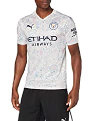 PUMA MCFC Third Shirt Replica SS with Sponsor Logo Camiseta, Hombre