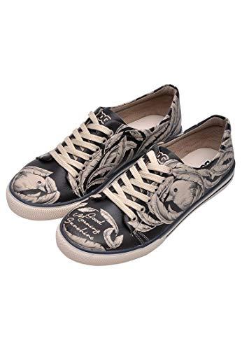 DOGO Damen Good Morning Sunshine Sneaker, schwarz/beige, 38 EU