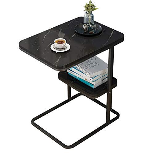 XWZJY Tavolini Nordico Semplice Soggiorno Tavolo da Divano Camera da Letto Tavolino ad Angolo, Top Effetto Marmo, 50 x 30 x 58 cm, 3 Colori