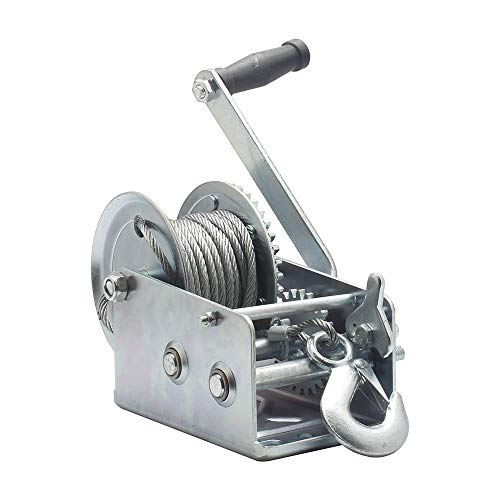 OPENROAD Hand Winch Crank Gear Winch, Heavy Duty, up to 2500 lbs for Trailer, Boat or ATV