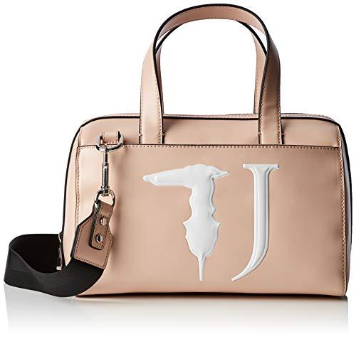 Trussardi Jeans T-easy Bauletto Monocolor, Borsa a mano Donna, Rosa (Light Pink), 30x20x16 cm (W x H x L)