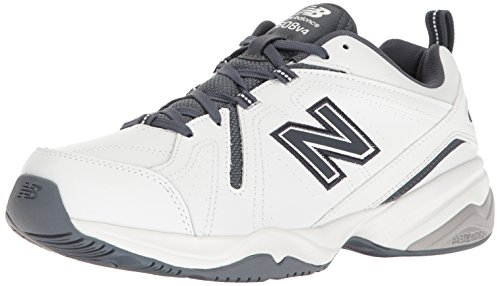 New Balance Men's 608 V4 Casual Comfort Cross Trainer, White/Outerspace, 7.5 XW US
