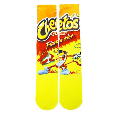 Unisex Crazy Funny Novelty 3D Colorful Athletic Sport Crew Tube Sock,Cheetos
