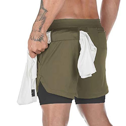 PPangUDing Shorts Fitness Bermuda Kurze Hose Elastic Sommer Schnell Trocknend Camouflage Printed mit Tunnelzug Slim Fit Laufshorts Jogginghose Sweatshorts Sporthose Sporthose Trainingsshorts