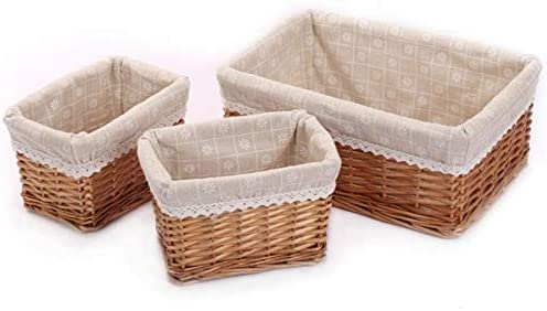 feichang Small Large Woven Wicker Baskets Storage In Virginia Beach Mall stock Bins Rectang ;