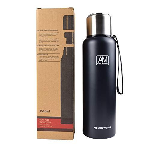 ROADNADO Thermosflasche, 1100ML /1500 ML Edelstahl Flasche Thermoskanne 304...