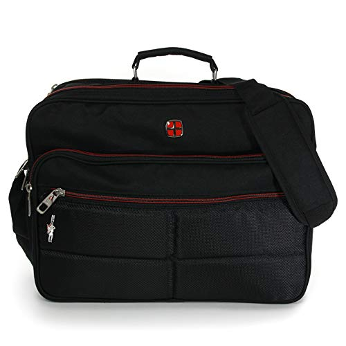 Messenger-Bag XXL Umhängetasche Business Notebook Tasche Black FLUGBEGLEITER MESSENGER ARBEITSTASCHE HERRENTASCHE DAMENTASCHE