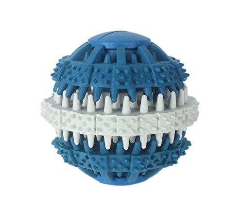 Anftop Hundeleckerli-Spielzeug, Gummiball, Kauspielzeug, Zahnreinigungsball, interaktives Spielzeug