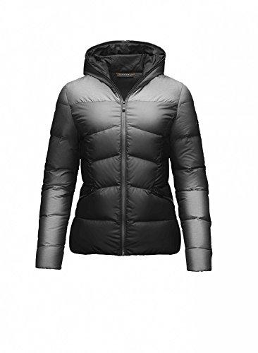 KJUS Vals Damen Skijacke Schwarz Grau mit Kapuze Größe L, XL oder XXL Neu mit Etikett (42)