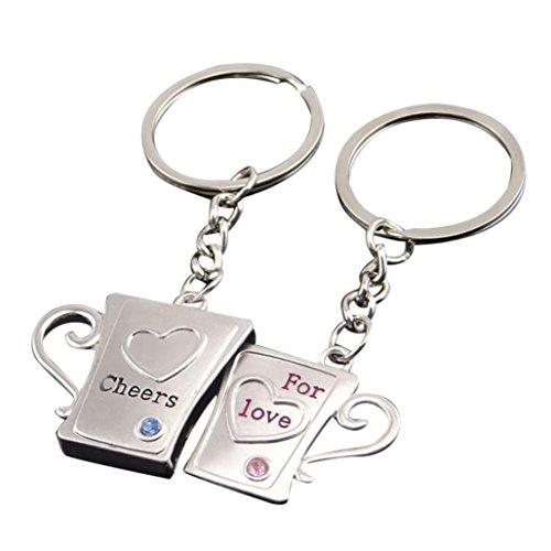 Gaddrt Créatif couple trousseau porte-clés amour (A)