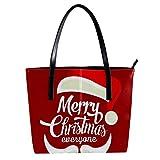 Navidad Papá Noel de Red Hat Bigote Mujeres Cuero PU Moda B