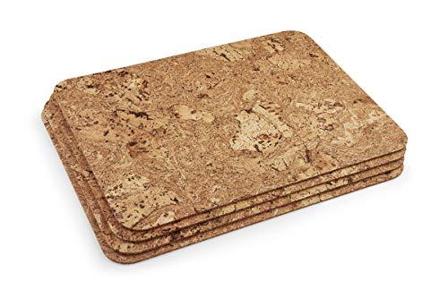 BrasCoreta Juego 4 manteles rectangulares corcho 100%