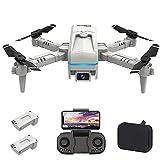 OBEST Mini Drone con Cámara 4K, App WiFi FPV, Modo sin Cabeza, Foto Gestual, Giro de 360 °, Vuelo de Trayectoria, Una Tecla de Regreso/Despegue, 2 Baterías, para Principiantes