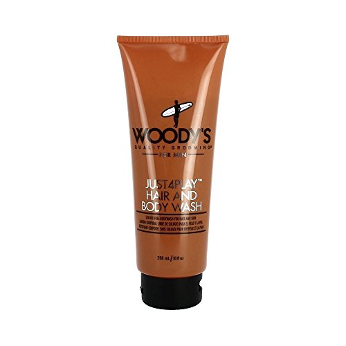 Woody's Quality Grooming Just 4 Play Hair and Body Wash, 10 oz by Woody's