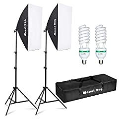2 Softbox: 2pcs 20 x 28inch MountDog softbox ultimately soften light stream and remove shadow to make perfect shooting; Silver internal face to minimize light loss and maximize light spread, with E27 socket,you can directly connect light bulbs,fluore...
