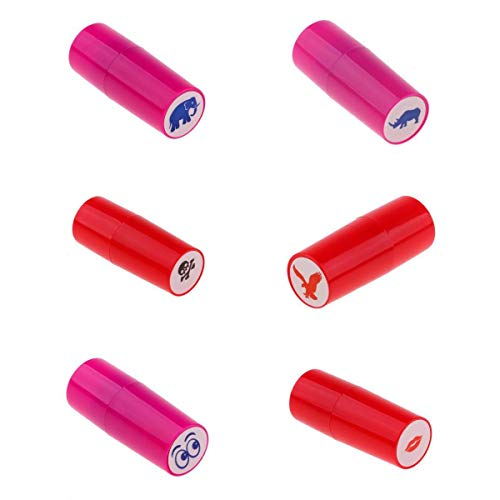 F Fityle 6 Unidades de Sello Marcador para Bola de Golf Tenis Fútbol Béisbol Hecho de Material Plástico Variación de Impresión