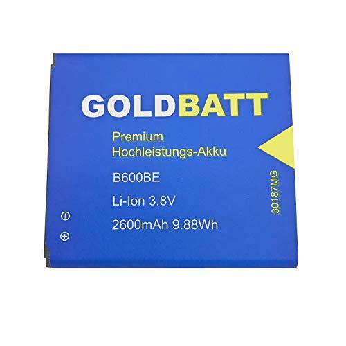 Goldbatt Akku für Samsung Galaxy S4 I9505 Altius GTI9500 GT-I9500 GTi9502 LTE SIV Smartphone B600BE Premium Hochleistungs-Akku Hochleistung Smartphone Handy ersatzakku GT-i9505 EB-B600BE EB-B600BU