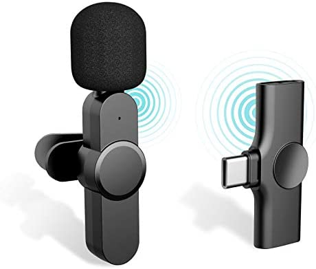 iDiskk Plug Play Wireless Lavalier Microphone for YouTube Facebook Live Stream Vloggers Interview product image