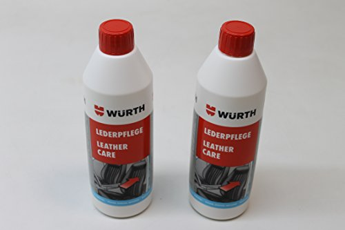 LEDERPFLEGE WÜRTH 2x 500ML Leder Reinigung Pflege Pflegemittel Glattleder