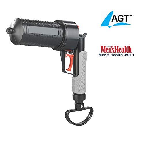 AGT Abfluss Pistole: XL-Pressluft-Rohrreiniger mit handlichem Pistolengriff und 4 Aufsätzen (Rohrfrei Pistole)