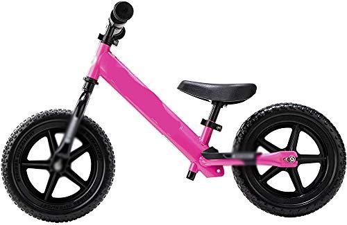 Gummireifen, Stahlrahmenbilanz Fahrrad Kind Fahrradlauf Fahrrad Sport Fahrrad, Toner mit Stahlrahmen und Kindersitz,Pink