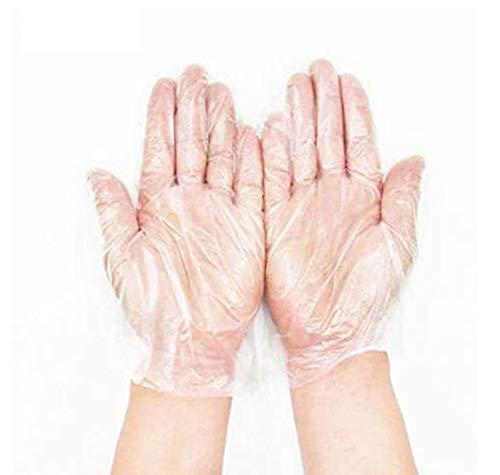 JUNSHUO 500 X Guantes de plástico guantes desechables de polietileno de calidad alimentaria,para comida, manualidades, limpieza de pelo, tintes y mucho más, transparente, X-Large