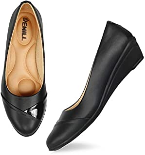 Denill Comfortable Wedge Heel Ballet Flats for Women and Girls