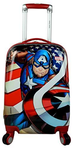 Humty Dumty Captain America Polycarbonate 18 Inch / 45.7 cm Kids Hard Luggage Trolley Bag   Travel Bag