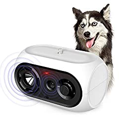 SiBei Anti Bellen Gerät, Automatisches Antibell Halsband Hund, Wiederaufladbares Antibell Ultraschall Gerät für Kleine Mittelgroße Hunde, Wasserdichter Erziehungs Halsband, Innen- und Außenbereich