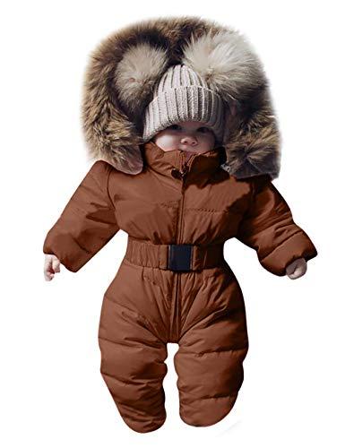 Letuwj Traje de invierno unisex con capucha para bebés y niños pequeños.