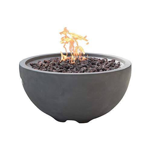 Nantucket Concrete Natural Gas Fire Bowl by Modeno