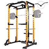Mikolo Power Cage, 1000LBS Power Rack with LAT Pull Down and 360°...