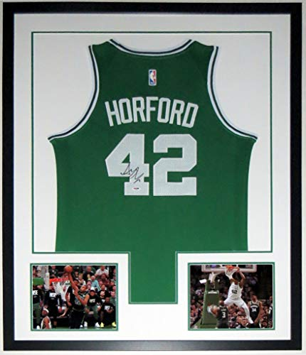 Al Horford Signed Authentic Nike Boston Celtics Jersey - PSA DNA COA Authenticated - Professionally Framed & 2 8x10 Photo 34x42