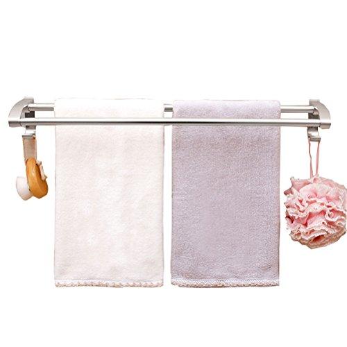 WLH- Sterke zuignap handdoekenrek badkamer dubbele handdoekhouder badkamer handdoekenrek bathroom