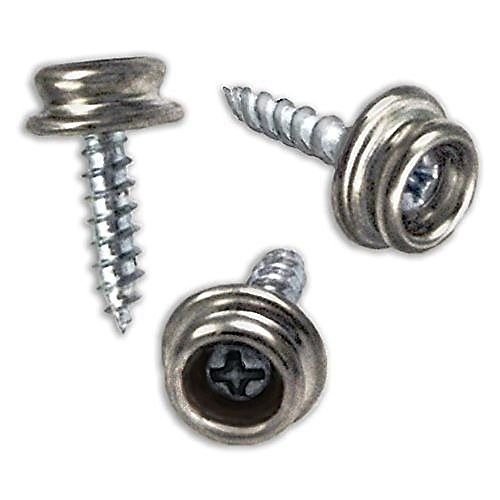 RAM-PRO Set of 100 Snap Button Screw-in Studs Pack - All Phillips Heads