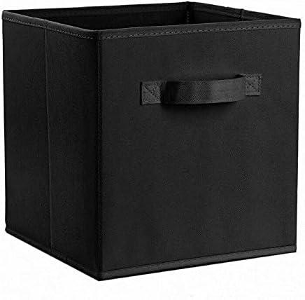 4 Pack Storage Box Closet Black Storage-file-boxes bins OFFicial site excellence
