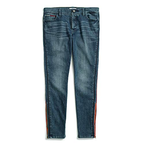 Tommy Hilfiger Damen Jegging with Velcro Brand and Magnetic Button Fly Jeans, dunkle Waschung, 44