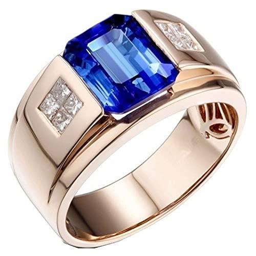 Anillo de metal dominante del tigre de la moda de los hombres Joyería exquisita del anillo de la moda9Blue