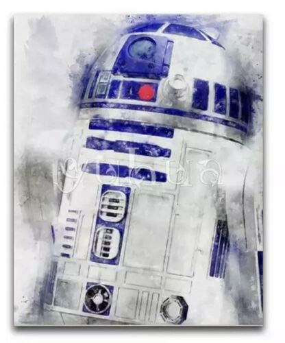 ACEYCYS Star Wars R2D2 Kunstdruck Vollrundbohrer 5D Diamond Painting Kit Kreuzstichset Mosaik Home Craft Dekoration 40x50CM