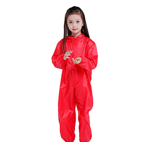 Vestes anti-pluie QFF Child Raincoat Siamese Boys and Girls Raincoat Baby Poncho Playing with Sand Play Water Painting (Taille : M)