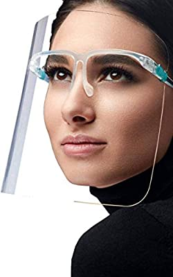 5PC Fashionable, Safe Face Shields For Everyday Use