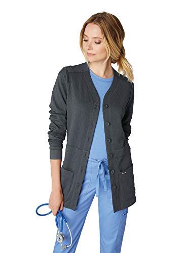 KOI 440 Women's Claire Knit Scrub Jacket Charcoal XS