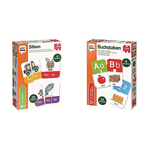 Jumbo Spiele 19551 - Ich Lerne Silben & 19548 - Ich Lerne Buchstaben