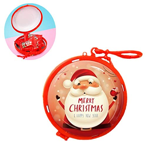 BOENTA GeldböRse Kinder Portmonee Weihnachtsdekoration Weihnachtsmann Schneemann Elch Pinguin Kleine MüNzbeutel Geschenke FüR Kinder red